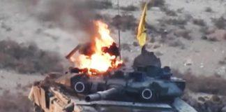 російський Т-90 горить у Сирії. AdverMAN